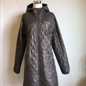 New Columbia Gray Raincoat size L